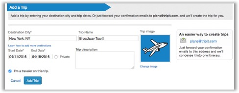 Add a new trip TripIt Help Center – Site That Plans Trip For You